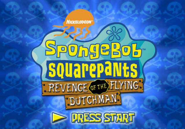 SpongeBob SquarePants: Revenge of the Flying Dutchman PlayStation 2 Title screen.