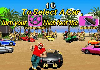 OutRunners Arcade Select a car.