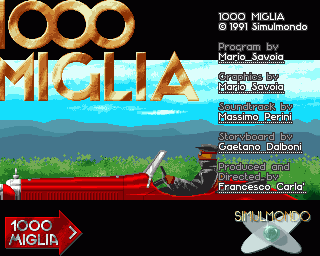 1000 Miglia Amiga Title Screen