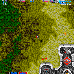 Thunder Force II Sharp X68000 First overhead stage, hard as hell but there's a lot more parallax scrolling here than in the MD version