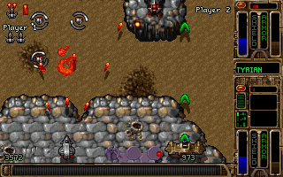 Tyrian 2000 DOS Two-player arcade mode.