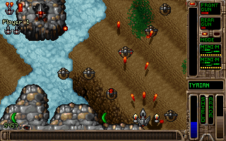 "Tyrian 2000 DOS A hidden ""Wild"" detail setting (Shift+W in the setup menu) will add moving shadows on the ground."