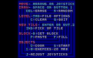 Jetpack: Christmas Special DOS The game's configuration options