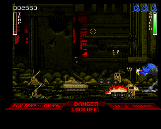 Walker Amiga Middle East (Artillery is firing from long distance)