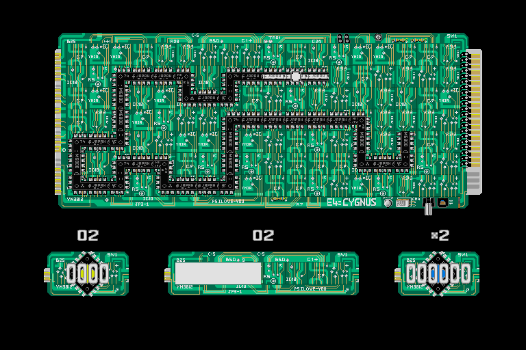 Loopz Sharp X68000 Circuit graphic