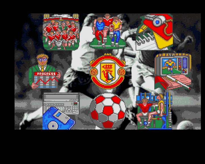 Manchester United Amiga Main management menu