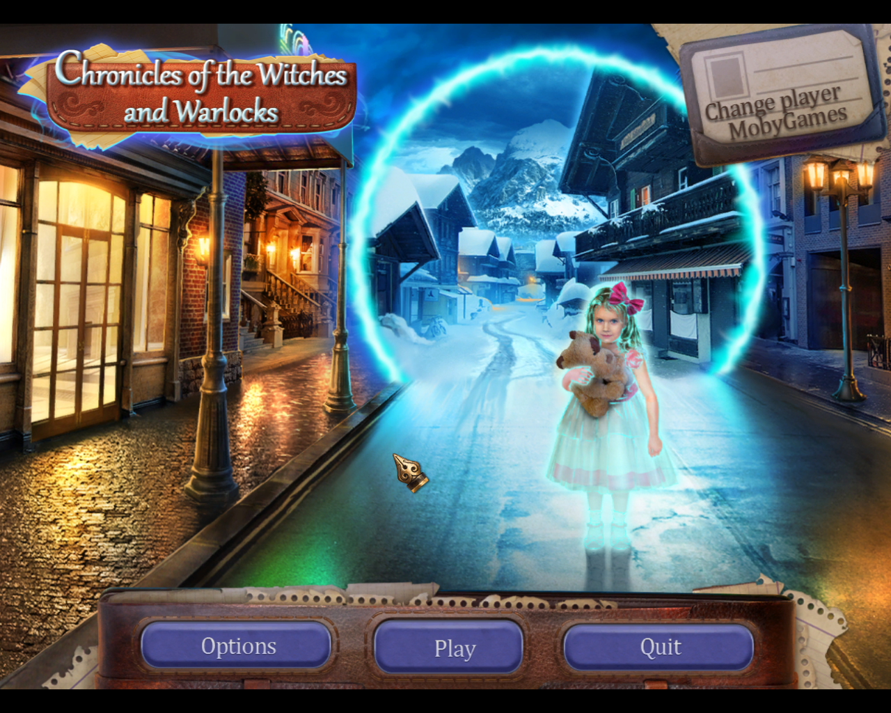 Chronicles of the Witches and Warlocks Windows Title and main menu