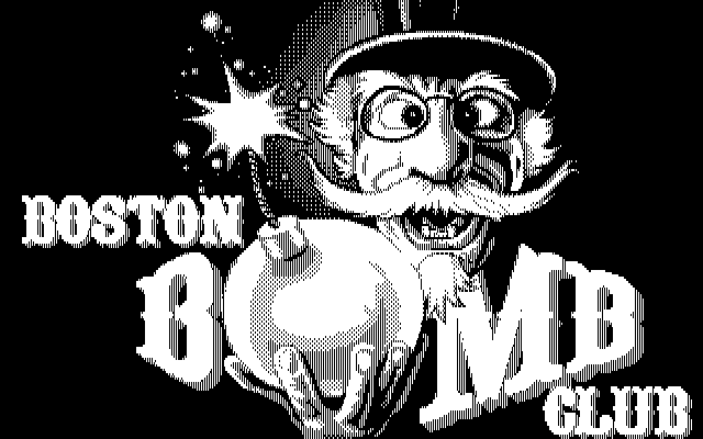 Boston Bomb Club Atari ST Title (monochrome monitor)