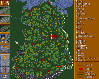 Aufschwung Ost Amiga Overview map of East Germany
