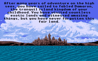 Sinbad and the Throne of the Falcon Apple IIgs The story so far...