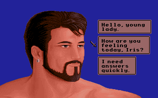 Sinbad and the Throne of the Falcon Apple IIgs Dialog choices.