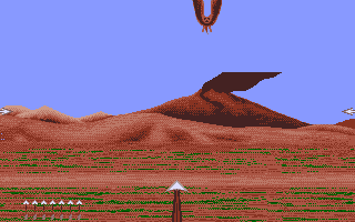 Sinbad and the Throne of the Falcon Apple IIgs Shoot down the freaky bat thing.