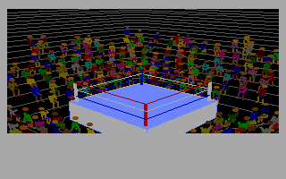 4-D Boxing DOS A small animation precedes every fight