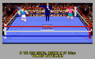 4-D Boxing DOS And on the blue corner...