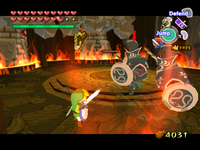 The Legend of Zelda: The Wind Waker GameCube Battle with tough knights