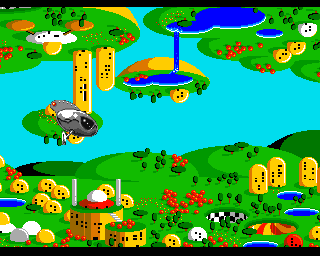 Zool Amiga Ending sequence - Zool returns to his planet.
