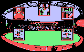 Kenny Dalglish Soccer Manager Atari 8-bit Main menu