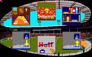 Kenny Dalglish Soccer Manager Amiga Main menu