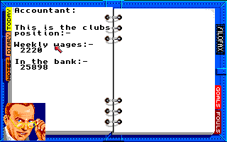Kenny Dalglish Soccer Manager Amiga Accountant