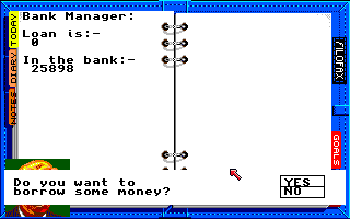 Kenny Dalglish Soccer Manager Amiga Bank manager