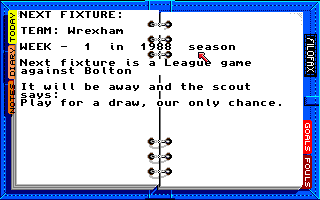 Kenny Dalglish Soccer Manager Amiga Next fixture