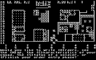 Computer Ambush Atari 8-bit Tactical map