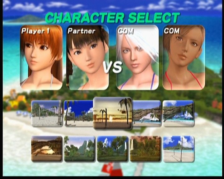 Dead or Alive: Xtreme Beach Volleyball Xbox Instead of playing scenario, you can choose Exhibition and go straight for the volleyball match between any characters (and swimsuits) you select.