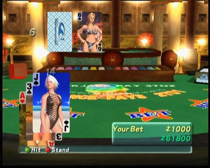 Dead or Alive: Xtreme Beach Volleyball Xbox Playing blackjack.