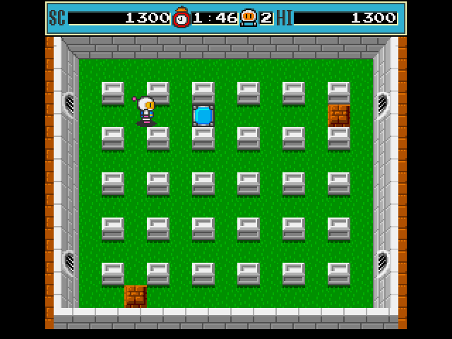 Bomberman Amiga Step on the blue panel to finish the round