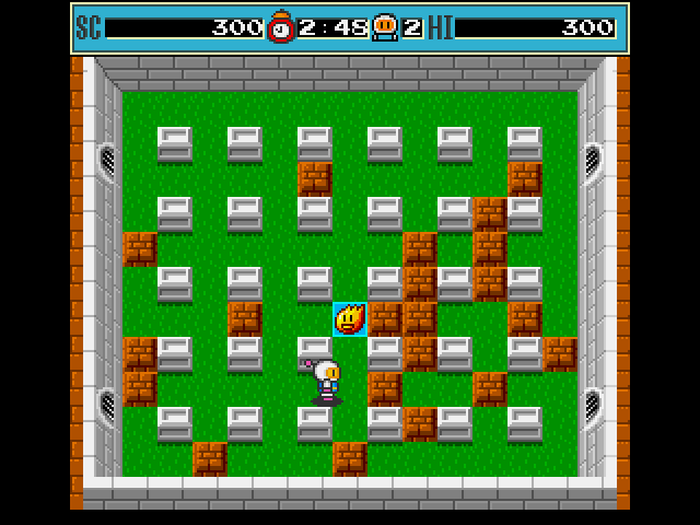 Bomberman Amiga This pick up gives your bomb extra blast length