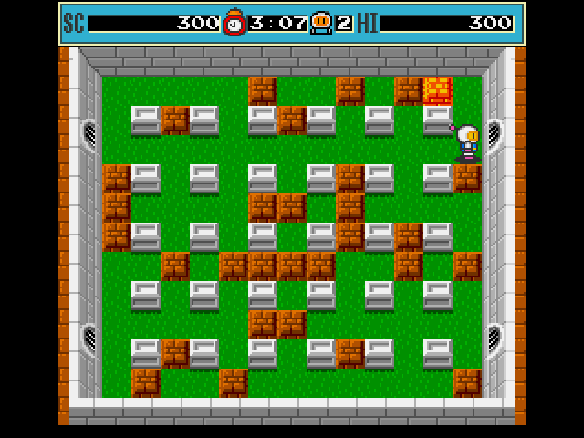 Bomberman Amiga A block will flash when all the enemies are dead there could be something useful under it