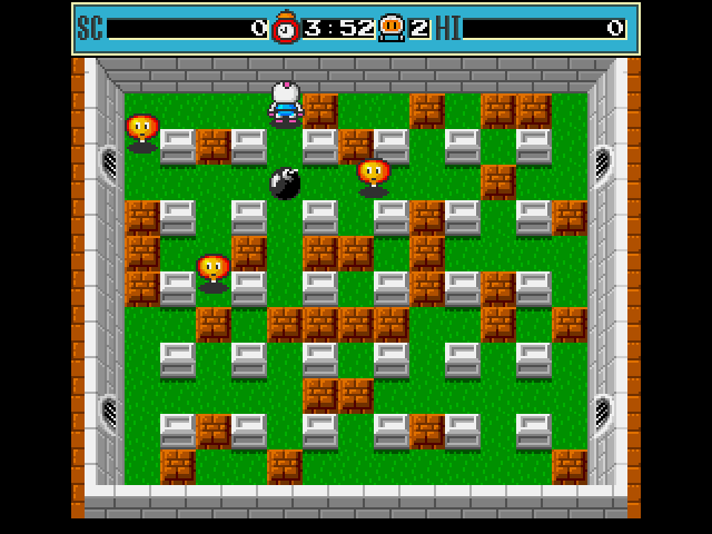 Bomberman Amiga Drop your bomb and wait for creature to get near it