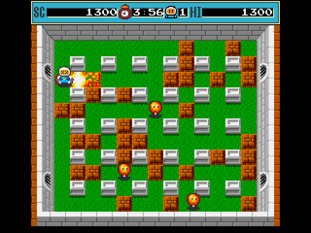 Bomberman Amiga You can blow yourself up if your not careful