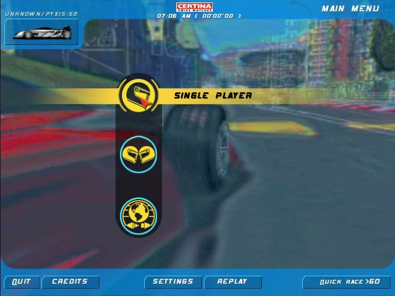 Speed Challenge: Jacques Villeneuve's Racing Vision Windows Main Menu