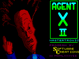 Agent X II: The Mad Prof's Back! ZX Spectrum Loading Screen