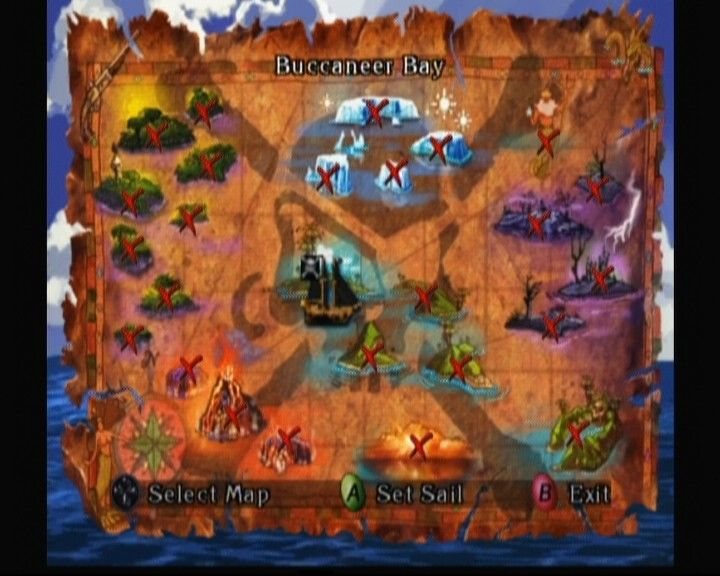 Pirates the legend of black kat screenshots for xbox mobygames world map though in order to travel to other places you must find map for each gumiabroncs Gallery