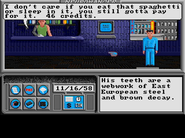 Neuromancer Amiga You cant pay the man so