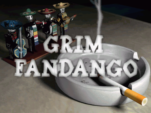Grim Fandango Windows The title screen appears in the beginning of the stylish introductory video