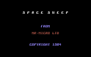 Space Sweep & Invaders Commodore 16, Plus/4 Space Sweep: Title Screen