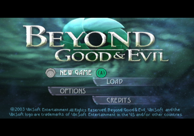 Beyond Good & Evil GameCube Title Screen