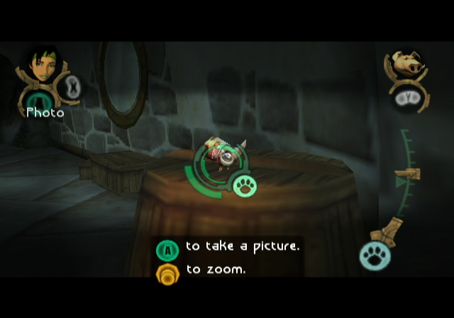 Beyond Good & Evil GameCube Photography is Jade's day job.