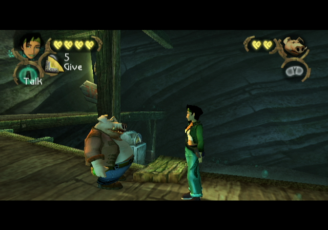 Beyond Good & Evil GameCube Pey'j and Jade explore the Ancient Mine