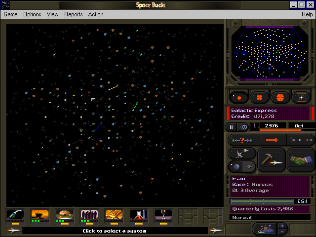 Space Bucks Windows 3.x Galactic overview