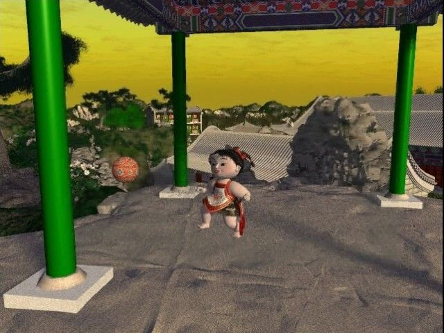 The Legend of Lotus Spring Windows Click on a ball to trigger a short animation with a child