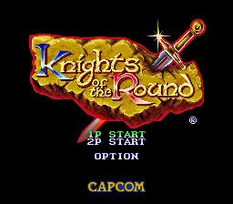 Knights of the Round SNES Title screen