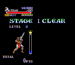 Knights of the Round SNES Level up