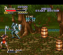 Knights of the Round SNES A lying birdman