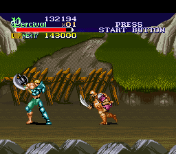 Knights of the Round SNES Barbarians are good sword fighters