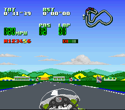 Kawasaki Superbike Challenge SNES People on the side of the track?