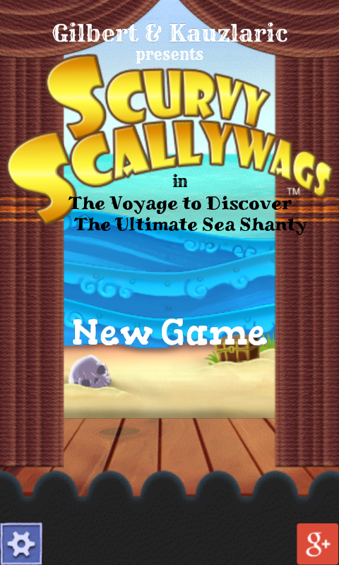 Scurvy Scallywags Android Main menu